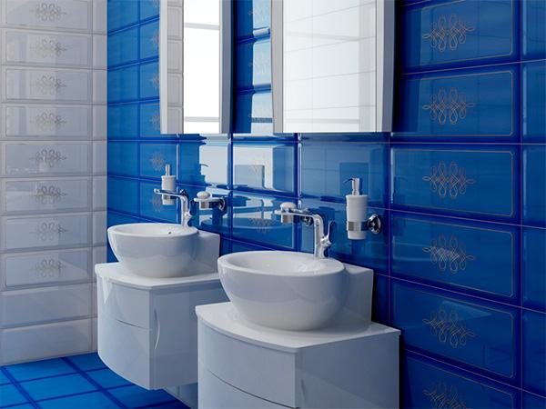 Плитка для ванной 'Elissa BLU'