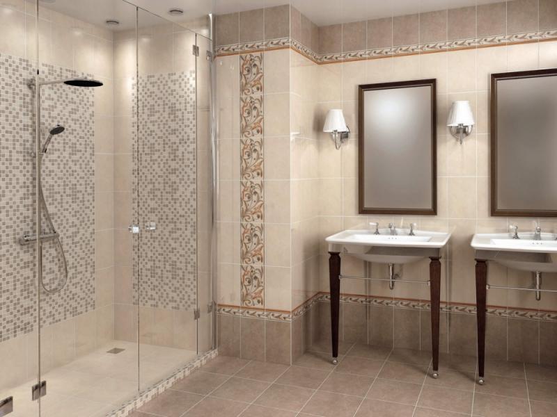 Плитка керамическая для ванной 'Вилла Флоридиана' в интернет-магазине Идеальная Ванная: фото