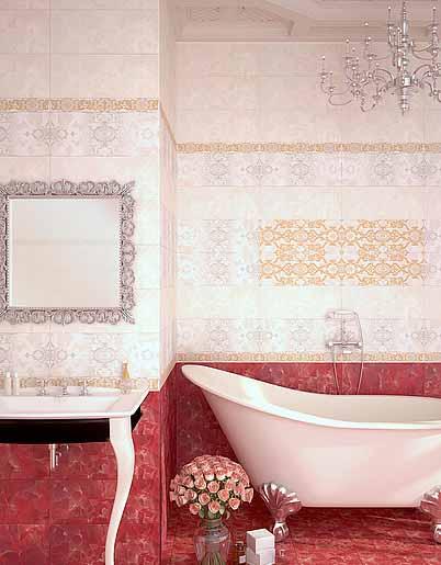 Плитка керамическая 'Navarra Carmin' в интернет-магазине Идеальная Ванная: фото
