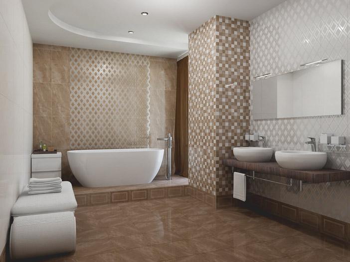 Плитка для ванной 'Amani Marron' в интернет-магазине Идеальная Ванная: фото