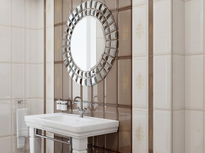Плитка для ванной 'Elissa MARRONE' в интернет-магазине Идеальная Ванная: фото