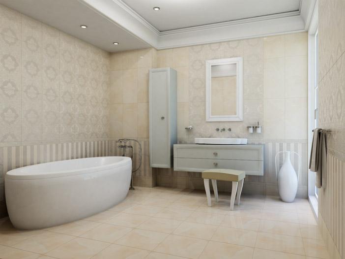 Плитка для ванной 'Onice Crema' в интернет-магазине Идеальная Ванная: фото