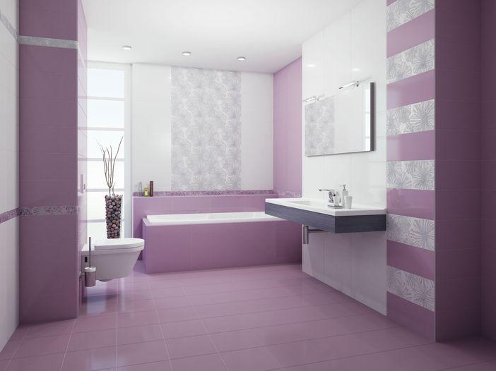 Плитка для ванной 'Splendida Malva' в интернет-магазине Идеальная Ванная: фото