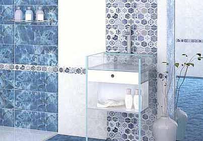 Плитка керамическая 'Navarra Indigo' в интернет-магазине Идеальная Ванная: фото