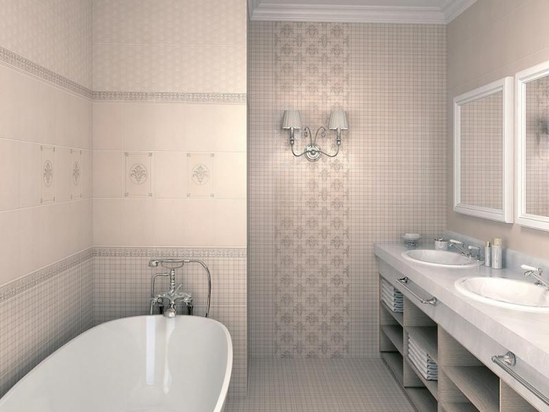 Плитка керамическая для ванной 'Традиция' в интернет-магазине Идеальная Ванная: фото