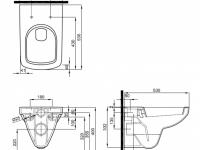 Унитаз подвесной 'Special' безободковый с сиденьем микролифт №2